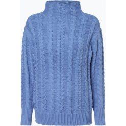Marie Lund - Sweter damski, niebieski. Niebieskie swetry klasyczne damskie Marie Lund, l, z dzianiny, z golfem. Za 229,95 zł.