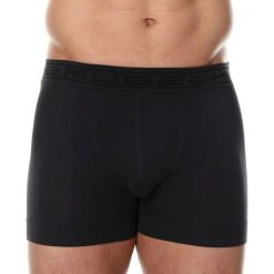 Majtki męskie: Brubeck Bokserki męskie Comfort Cotton ciemnografitowe r. L (BX00501A)
