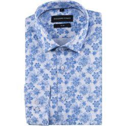 Koszula SIMONE KDWS000521. Szare koszule męskie na spinki marki S.Oliver, l, z bawełny, z włoskim kołnierzykiem, z długim rękawem. Za 149,00 zł.
