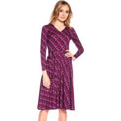 Sukienki dzianinowe: Dzianinowa sukienka z długim rękawem BIALCON