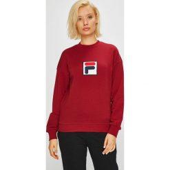 Fila - Bluza. Brązowe bluzy z nadrukiem damskie marki Fila, l, z bawełny, bez kaptura. Za 279,90 zł.
