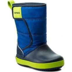 Buty zimowe chłopięce: Śniegowce CROCS – Lodgepoint Snow Boot K 204660 Blue Jean/Navy