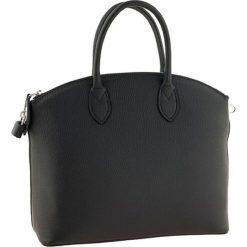Torebki klasyczne damskie: Skórzana torebka w kolorze czarnym – 26 x 36 x 15 cm
