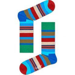 Happy Socks - Skarpetki Multi Stripe. Szare skarpetki damskie Happy Socks, z bawełny. Za 39,90 zł.