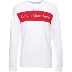 Calvin Klein Jeans HAYO REGULAR FIT Bluza bright white. Białe kardigany męskie marki Calvin Klein Jeans, m, z bawełny. W wyprzedaży za 359,20 zł.