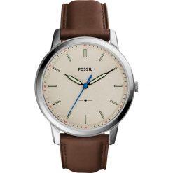 Zegarek FOSSIL - The Minimalist 3H FS5306 Brown/Silver. Różowe zegarki męskie marki Fossil, szklane. W wyprzedaży za 419,00 zł.