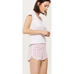 Piżamy damskie: Piżamowe szorty barbie – Jasny szar