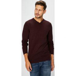 Jack & Jones - Sweter. Brązowe swetry klasyczne męskie Jack & Jones, m, z bawełny. W wyprzedaży za 69,90 zł.