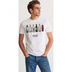 T-shirt z nadrukiem - Biały. Białe t-shirty męskie z nadrukiem Reserved, m. Za 59,99 zł.