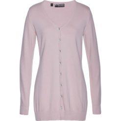 Długi sweter rozpinany bonprix matowy jasnoróżowy. Szare kardigany damskie marki Mohito, l. Za 59,99 zł.