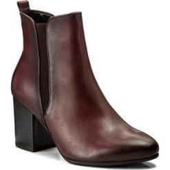 Botki GABOR - 71.741.25 Merlot. Czerwone buty zimowe damskie Gabor, z materiału, na obcasie. W wyprzedaży za 349,00 zł.