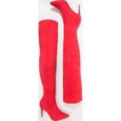 New Look BISCUIT Kozaki na obcasie bright red. Czarne buty zimowe damskie marki New Look, z materiału, na obcasie. W wyprzedaży za 188,30 zł.