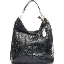 Torebki klasyczne damskie: Skórzana torebka w kolorze czarnym – 35 x 37 x 15 cm