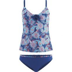 Tankini (2 części) bonprix niebieski. Niebieskie bikini bonprix. Za 89,99 zł.