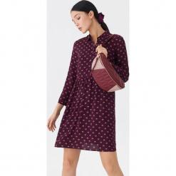 Wzorzysta sukienka - Bordowy. Czerwone sukienki marki House, l. Za 69,99 zł.