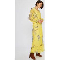 Vero Moda - Sukienka Satina. Niebieskie długie sukienki marki Vero Moda, z bawełny. W wyprzedaży za 129,90 zł.