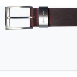 Pierre Cardin - Męski pasek skórzany, brązowy. Brązowe paski męskie Pierre Cardin, w paski. Za 129,95 zł.