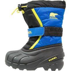 Buty zimowe chłopięce: Sorel FLURRY Śniegowce black/super blue