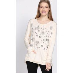 Jasnobeżowy Sweter Purpose. Brązowe swetry klasyczne damskie Born2be, na jesień, l. Za 39,99 zł.