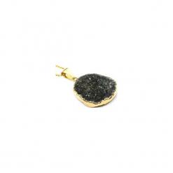 Naszyjnik Agat Druza Czarna złoto. Czarne naszyjniki damskie marki Brazi druse jewelry, pozłacane. Za 170,00 zł.