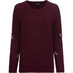 Sweter bonprix czerwony. Czerwone swetry klasyczne damskie bonprix, z dzianiny. Za 109,99 zł.