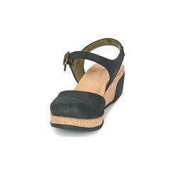 Sandały El Naturalista  LEAVES. Czarne sandały damskie El Naturalista. Za 479,00 zł.