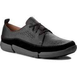 Półbuty CLARKS - Trifri Lace 261272017 Black Leather. Czarne półbuty skórzane męskie marki Clarks. W wyprzedaży za 259,00 zł.