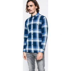Mustang - Koszula. Szare koszule męskie na spinki Mustang, l, w kratkę, z bawełny, z klasycznym kołnierzykiem, z długim rękawem. W wyprzedaży za 119,90 zł.