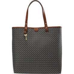 Shopper bag damskie: Fossil RACHEL STRIPE Torba na zakupy black