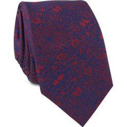 Krawat KWGR001443. Czerwone krawaty męskie Giacomo Conti, z mikrofibry, eleganckie. Za 69,00 zł.