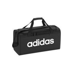 ea843a582c9b7 Torba fitness 25L. Czarne torby męskie sportowe Adidas, bez wzorów, z  poliesteru.