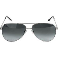 Okulary przeciwsłoneczne męskie: Srebrne okulary przeciwsłoneczne