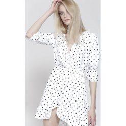 Sukienki hiszpanki: Biała Sukienka Almost Over
