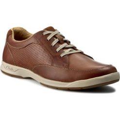 Półbuty CLARKS - Stafford Park5 203585937 Tan Leather. Brązowe derby męskie Clarks, ze skóry, na sznurówki. Za 399,00 zł.