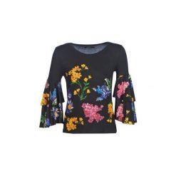 T-shirty z długim rękawem Desigual  FLAVIA. Szare t-shirty damskie marki Desigual, l, z tkaniny, casualowe, z długim rękawem. Za 309,00 zł.