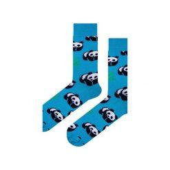 Skarpety niebieskie w pandy EM. Niebieskie skarpetki męskie Em men's accessories, z bawełny. Za 29,99 zł.