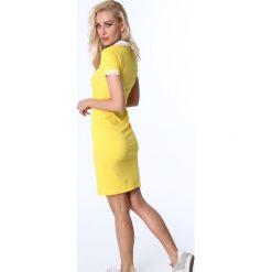 Sukienka polo żółta 3810. Żółte sukienki Fasardi, l, polo. Za 69,00 zł.