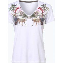 Marc Cain Collections - T-shirt damski, czarny. Czarne t-shirty damskie Marc Cain Collections, z nadrukiem. Za 279,95 zł.