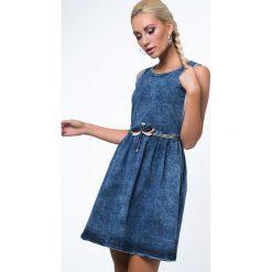 Sukienka jeansowa z ważką 1646. Szare sukienki Fasardi, l, z jeansu. Za 79,00 zł.