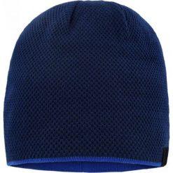 Czapka CZG0000002. Niebieskie czapki zimowe męskie Giacomo Conti, z materiału. Za 89,00 zł.
