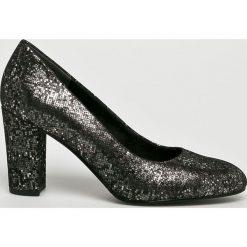 S. Oliver - Czółenka. Szare buty ślubne damskie S.Oliver, z materiału, na obcasie. W wyprzedaży za 199,90 zł.