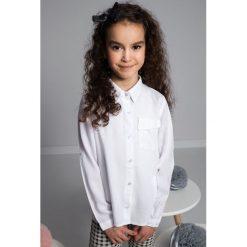T-shirty dziewczęce: Biała koszula dziewczęca NDZ36060