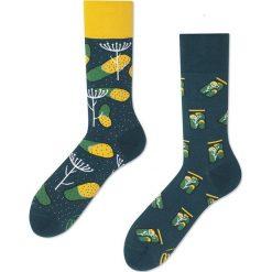 Many Mornings - Skarpety. Żółte skarpetki męskie marki B'TWIN, m, z elastanu, z długim rękawem. Za 24,90 zł.