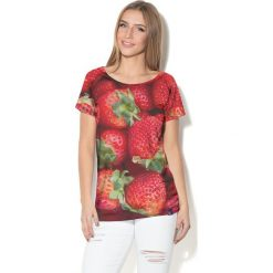 Colour Pleasure Koszulka damska CP-034  241 czerwono-zielona r. M-L. T-shirty damskie Colour pleasure, l. Za 70,35 zł.