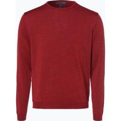 Finshley & Harding - Sweter męski, czerwony. Czarne swetry klasyczne męskie marki Finshley & Harding, w kratkę. Za 179,95 zł.