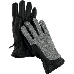 """Rękawiczki męskie: Skórzane rękawiczki """"Gerson Glove"""" w kolorze czarno-szarym"""