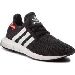Buty adidas - Swift Run B37730 Cblack/Ftwwht/Greone. Czarne buty skate męskie Adidas, z materiału. W wyprzedaży za 269,00 zł.