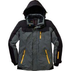 Termoaktywna kurtka zimowa bonprix antracytowo-czarny. Czarne kurtki męskie bomber bonprix, na zimę, m, z materiału. Za 239,99 zł.