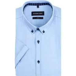 Koszula SIMONE slim KKNS000029. Niebieskie koszule męskie na spinki Giacomo Conti, m, z bawełny, button down. Za 199,00 zł.