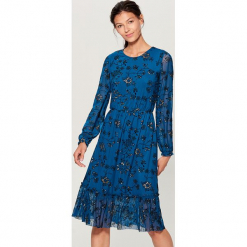 Sukienka w kwiaty - Khaki. Brązowe sukienki marki Mohito, l, w kwiaty. Za 149,99 zł.